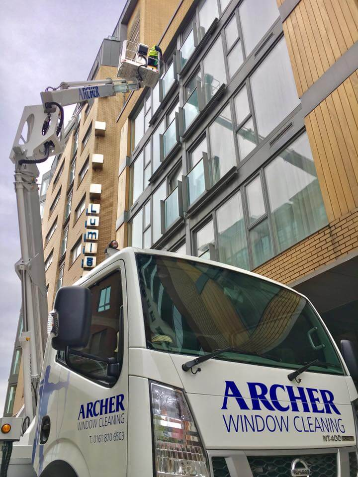 Cherry pick window cleaning Manchester