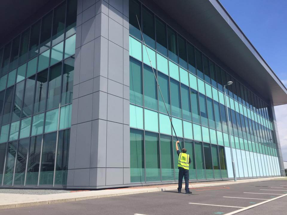 Commercial Window Cleaning Service at Trafford Park in Manchester