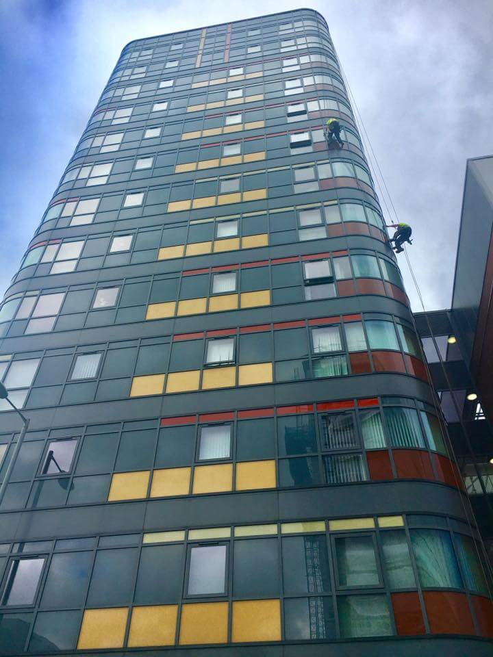 Abseiling Window Cleaning Services Manchester