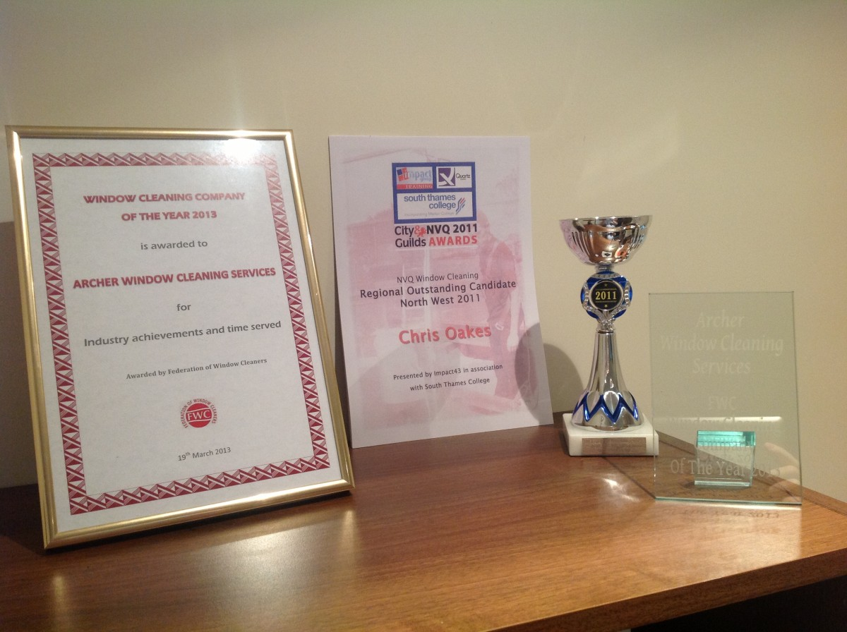 North West Award Winnder for Window Cleaning Services