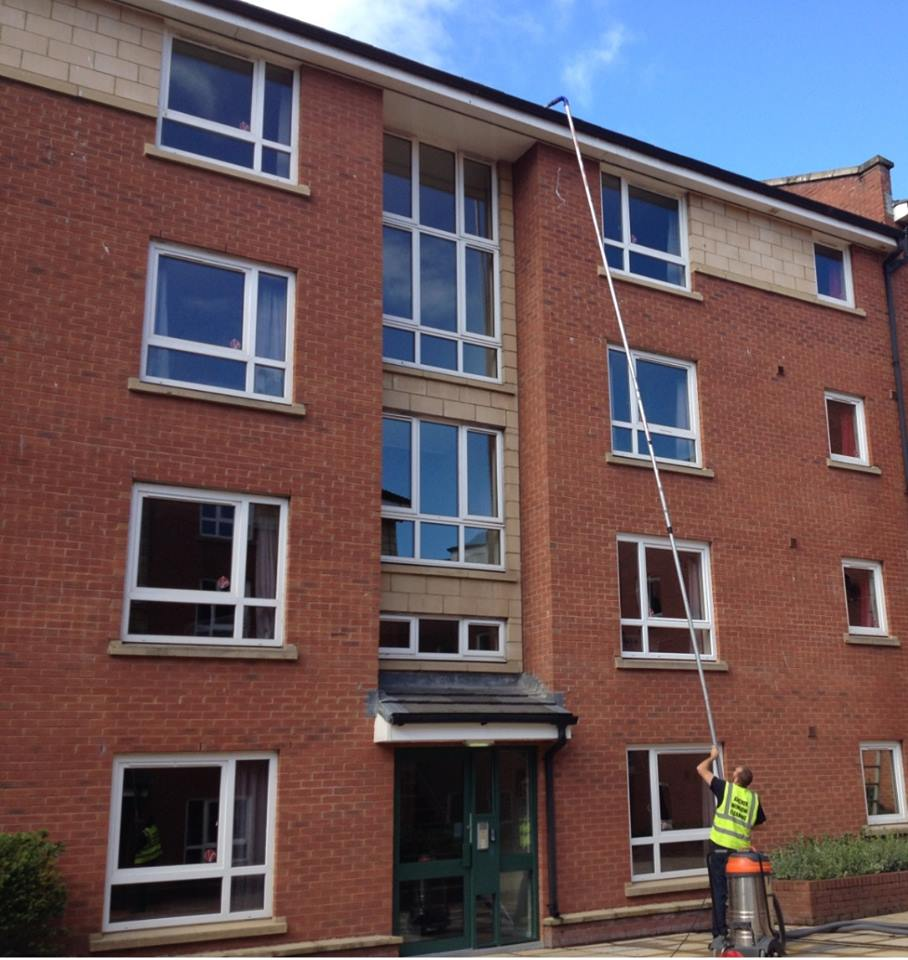 Commercial property gutter cleaning service