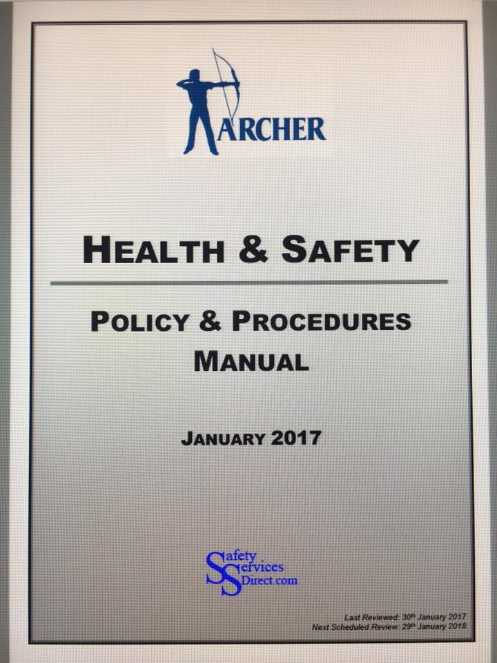 Archer Health and Safety Policy & Procedures Manual 2017
