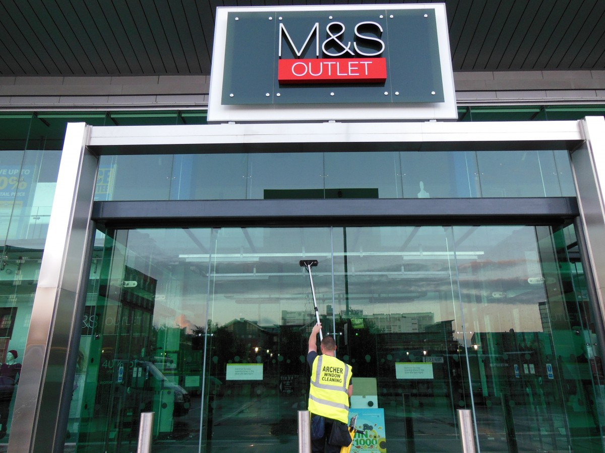 M&S Outlet Window Cleaning Manchester
