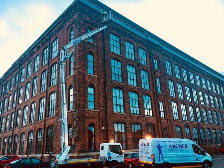 Industrial window cleaning in Preston