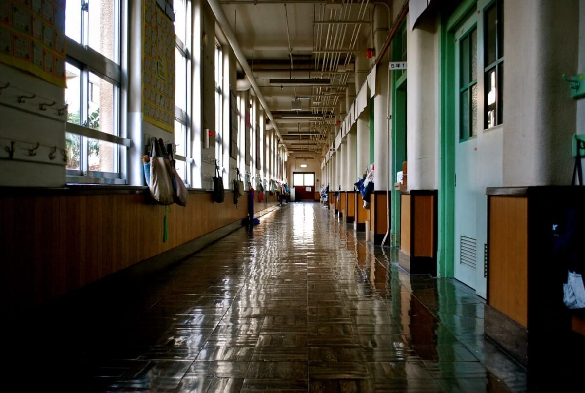 school hall way