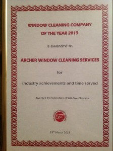 Window Cleaning Company of the Year 2013 Award